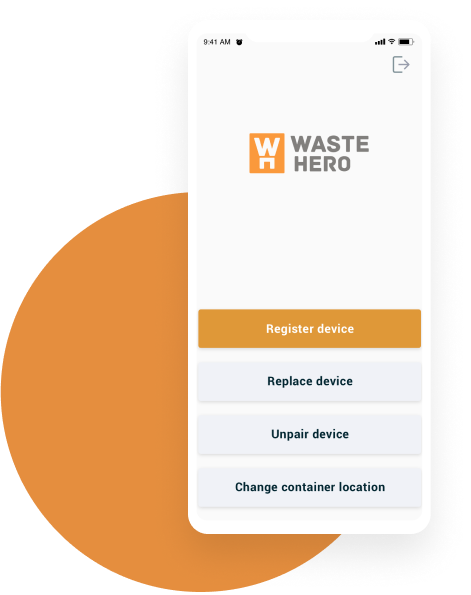 Sensor control with WasteHero Mobile App