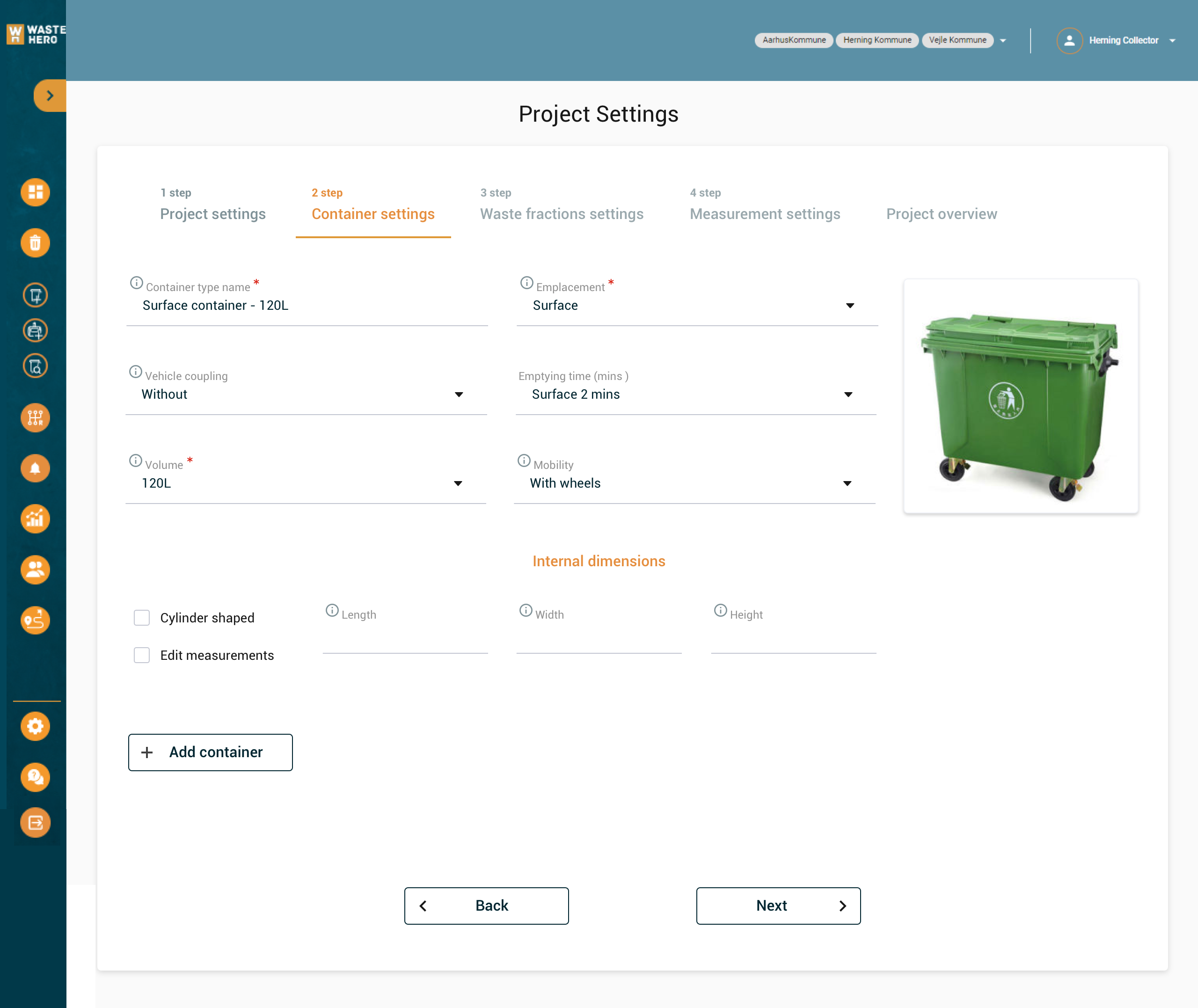 WasteHero management system